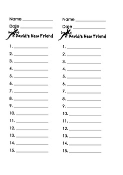 Treasures 2nd Grade Spelling Test Paper