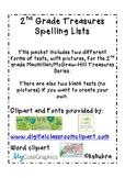 Treasures 2nd Grade Spelling Test Paper
