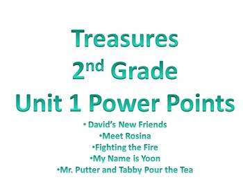 Treasures - 2nd Grade - Unit 1 Power Points - All Stories