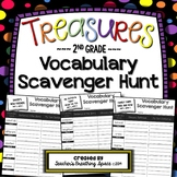 Treasures 2nd Grade -- Vocabulary Scavenger Hunts with EDITABLE PAGES