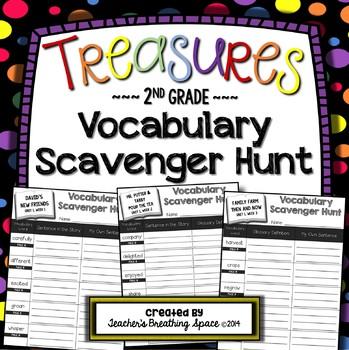 Treasures 2nd Grade -- Treasures Vocabulary Scavenger Hunt