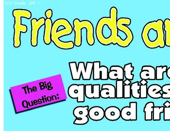Treasures 2nd Second Grade Big Question Board BQB Units 1-6