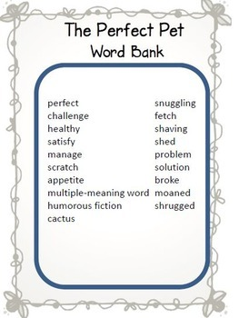Treasures 3rd Grade Cloze Worksheets - Crossword Puzzles Bundle