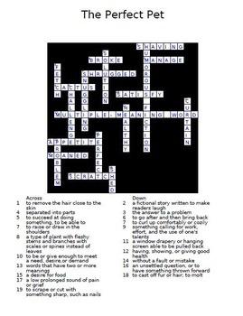 Treasures 3rd Grade Crossword Puzzles Unit 1 - 6 Full Year