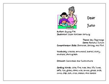 Treasures: (3rd Grade) Dear Juno Activity Booklet