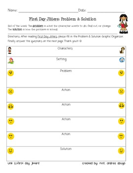 First Day Jitters Problem Solution Chart