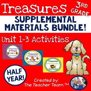 Treasures 3rd Grade Units 1 - 3 Supplemental Resources Bundle