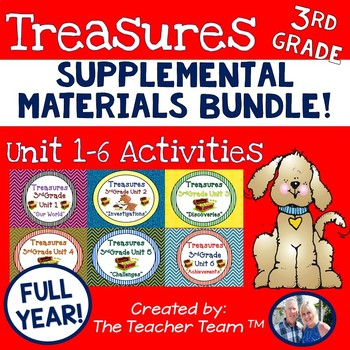 Treasures 3rd Grade Full Year Bundle Unit 1 - 6