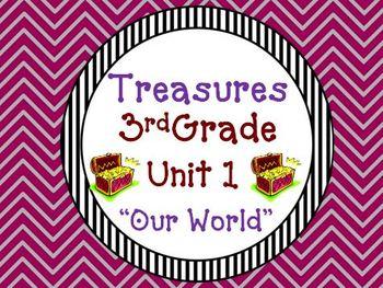 Treasures 3rd Grade Unit 1 Supplemental Materials Bundle