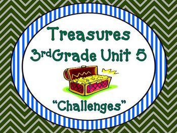 Treasures 3rd Grade Unit 5  Supplemental Materials Bundle