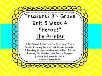 Treasures 3rd Grade Reading Comprehension Vocabulary Unit