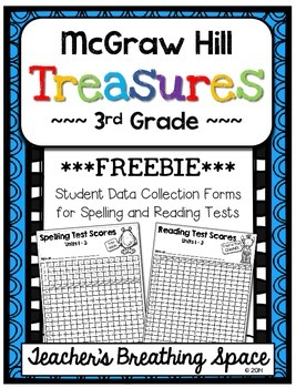 Treasures 3rd Grade - Student Data Forms for Spelling / Re