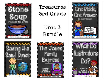 Treasures 3rd Grade - Unit 3 Bundle (All 5 Weeks Included!)