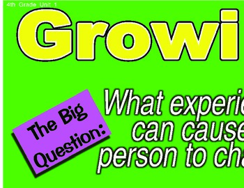 Treasures 4th Fourth Grade Big Question Board BQB Units 1-6