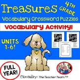 Treasures 4th Grade Units 1 - 6 Crossword Puzzles and Answers Full Year