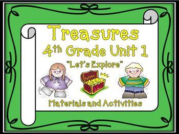 Treasures 4th Grade Unit 1 Supplemental Materials Bundle