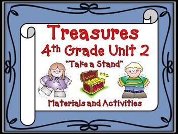 Treasures 4th Grade Unit 2  Supplemental Materials Bundle