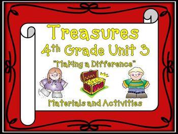 Treasures Reading 4th Grade | Treasures Reading Grade 4 | Unit 3 Printables