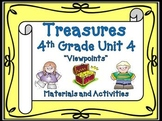 Treasures Reading 4th Grade Unit 4 Printables