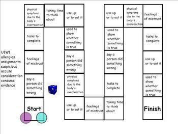 Treasures 4th Grade Unit 1 Vocabulary Games for SmartBoard