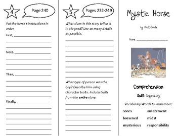 Mystic Horse Trifold - Treasures 4th Grade Unit 2 Week 5