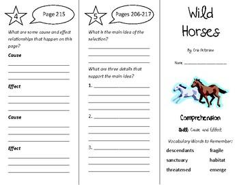 Wild Horses Trifold - Treasures 4th Grade Unit 2 Week 4 (2011)