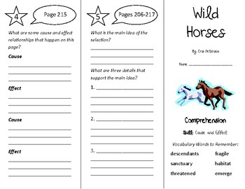 Wild Horses Trifold - Treasures 4th Grade Unit 2 Week 4 (2011)