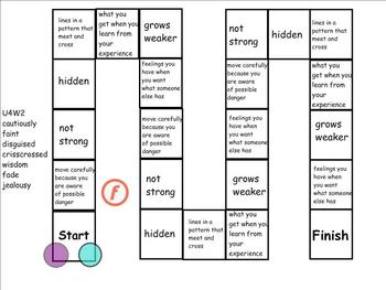 Treasures 4th Grade Unit 4 Vocabulary Games for SmartBoard
