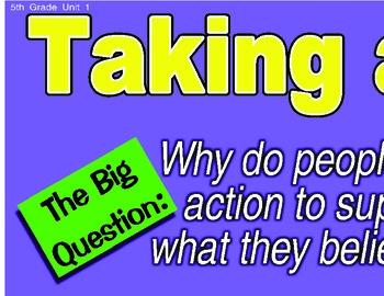 Treasures 5th Fifth Grade Big Question Board BQB Units 1-6