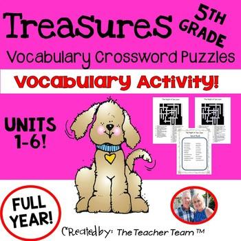 Treasures 5th Grade Crossword Puzzles Unit 1 - 6 Full Year