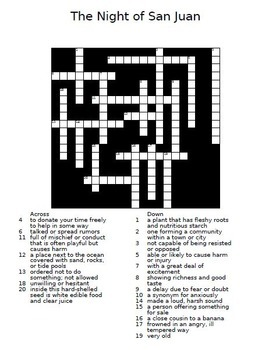 Treasures 5th Grade  Unit 1 - 6 Crossword Puzzles with Answers Full Year