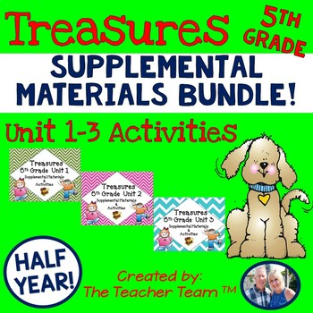 Treasures 5th Grade Units 1 - 3 Supplemental Resources Bundle