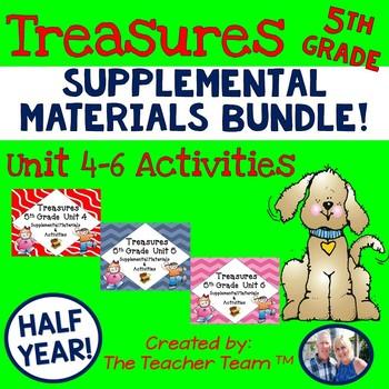 Treasures 5th Grade  Unit 4 - 6  Half Year Supplemental Resources Bundle