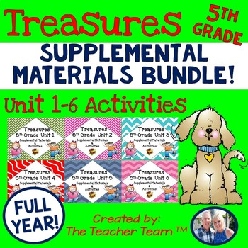 Treasures 5th Grade Full Year Bundle Unit 1 - 6