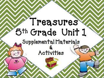 Treasures 5th Grade Unit 1 Supplemental Materials Bundle
