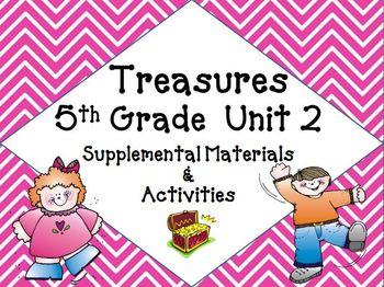 Treasures 5th Grade Unit 2 Supplemental Materials Bundle