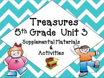 Treasures 5th Grade Unit 3 Supplemental Materials Bundle