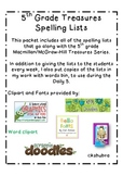 Treasures 5th Grade Spelling Lists