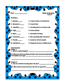 Treasures 5th grade, Unit 5, Week 1 - Small Group Book Activities - 3 books