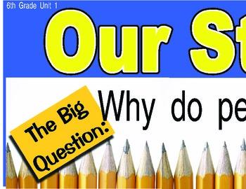 Treasures 6th Sixth Grade Big Question Board BQB Units 1-6