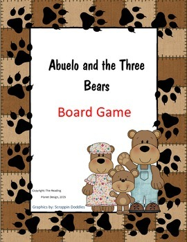 Treasures Abuelo and the Three Bears Board Game