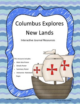 Treasures - Columbus Explores New Lands (Interactive Journal and Posters)