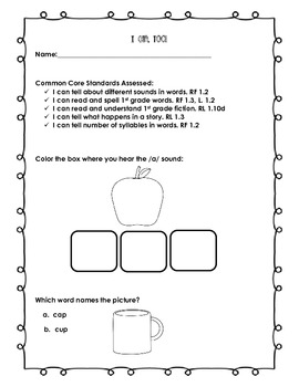 Treasures Common Core Assessment: I Can, Too!