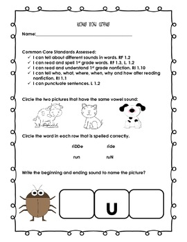 Treasures Common Core Based Assessment:  How You Grew