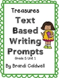 Treasures Common Core Text Based Writing Prompts BUNDLE, 5