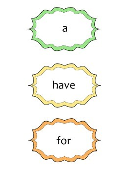 Treasures Curriculum High-Frequency Words (Grade 1)