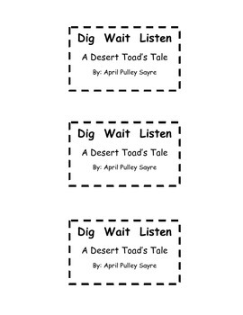 Treasures - Dig Wait Listen (Interactive Journal and Posters)