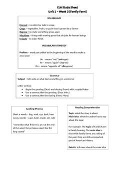 Treasures - Family Farm - Study Sheet