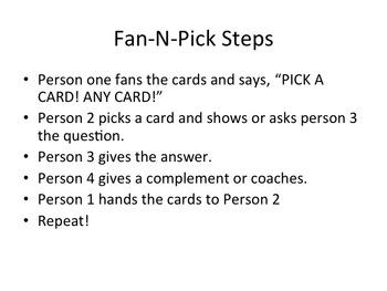Treasures- Fan and Pick- Spelling Week 4