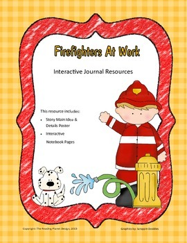 Treasures - Firefighters At Work (Interactive Journal and Posters)